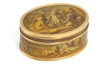 A LOUIS XVI GOLD-MOUNTED LACQU