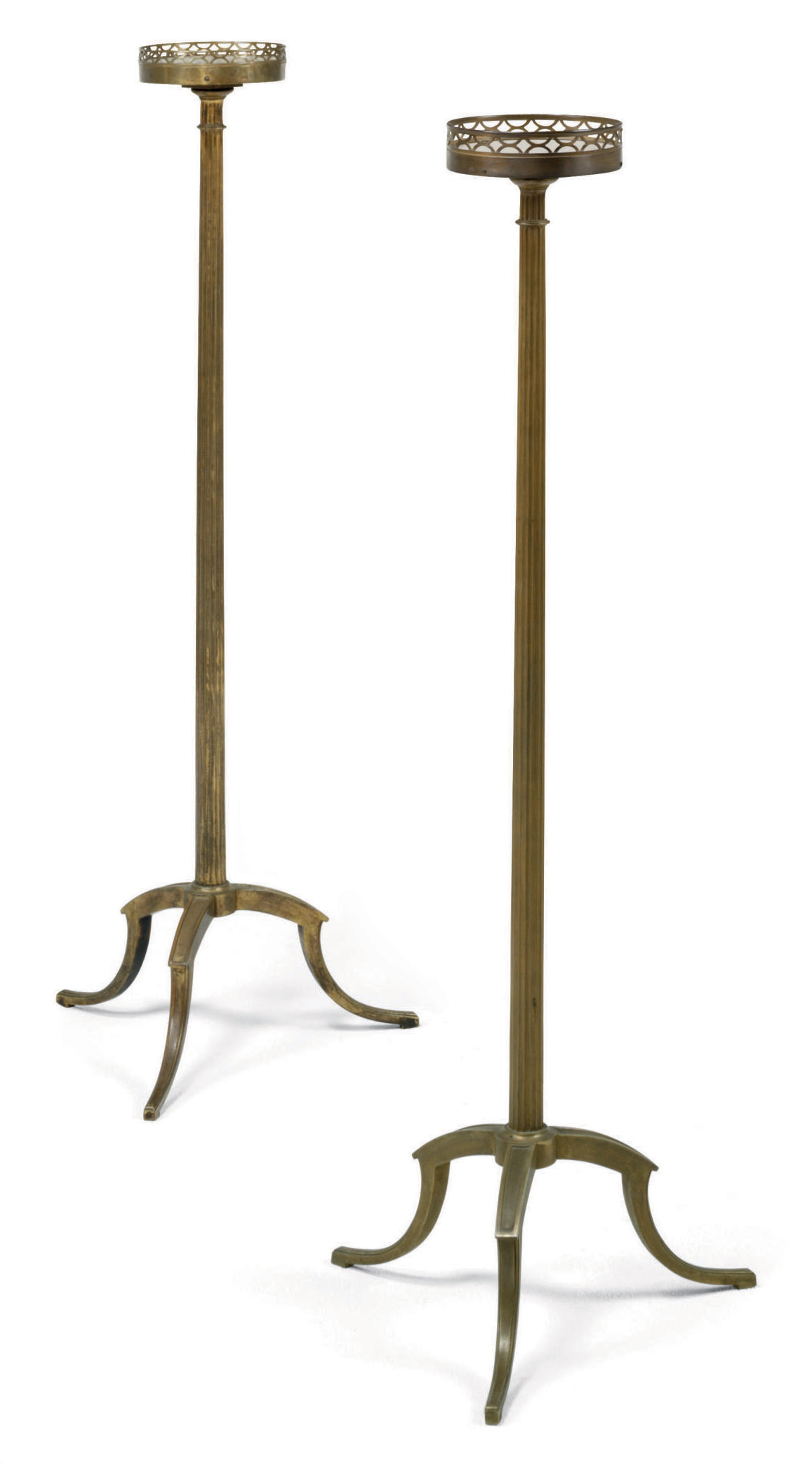 A PAIR OF FRENCH GILT-BRONZE TORCHERES