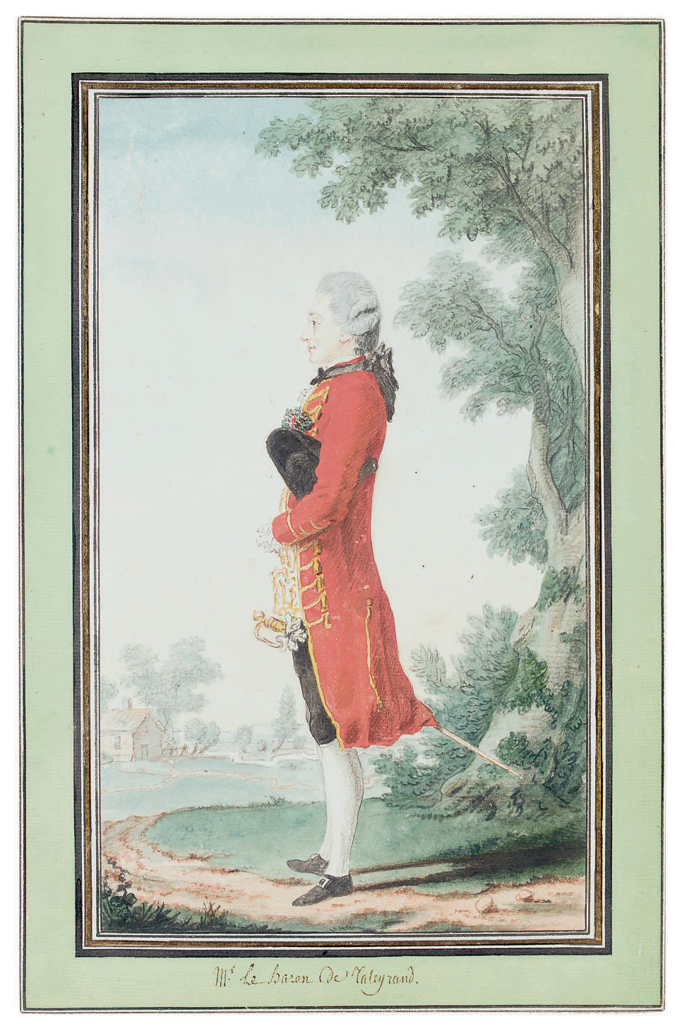 Portrait of the Baron de Talleyrand, full-length, in a landscape