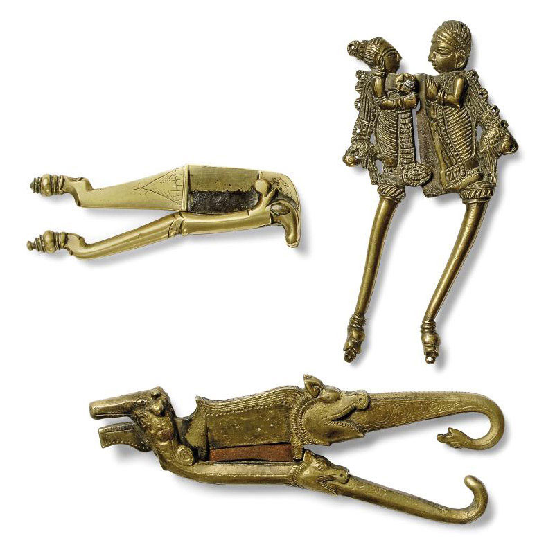 SIX DUTCH EAST-INDIES BRASS BETEL-NUT CUTTERS | All other categories