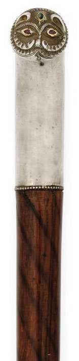 AN INDIAN ROSEWOOD AND SILVER