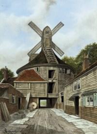 Old Windmill, Bankside, Southwark (illustrated); John Bunyon's Meeting House, Southwark; William and Mary Yard, Little Poultney Street; Gray's Inn Lane; East end of Serles Court; and Darkhouse Lane