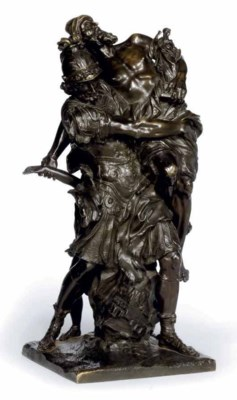 A FRENCH BRONZE OF AENEAS CARR