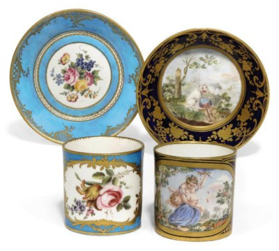 A GROUP OF SEVRES (LATER-DECOR