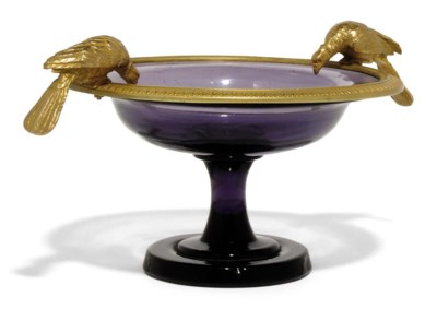 A GILT-METAL-MOUNTED AMETHYST