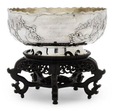 A CHINESE EXPORT SILVER BOWL