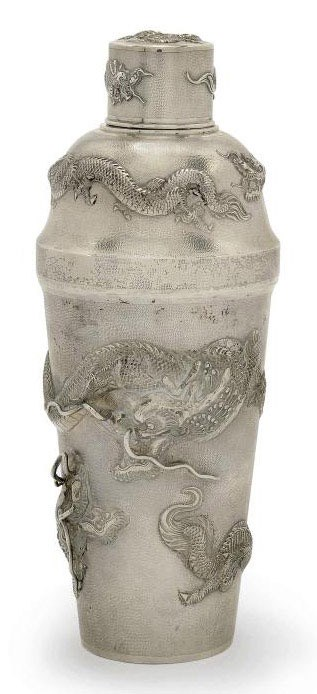 A CHINESE EXPORT SILVER COCKTA