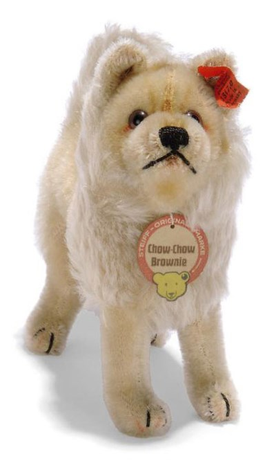 A STEIFF STANDING CHOW-CHOW BR