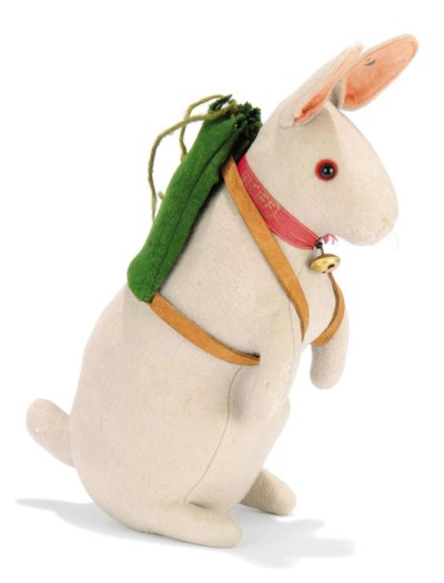 A STEIFF FELT BEGGING RABBIT W