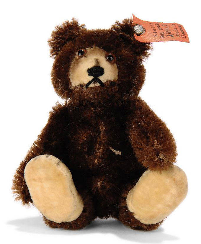 a steiff miniature teddy baby 7309 jointed brown mohair brown and black glass eyes inset. Black Bedroom Furniture Sets. Home Design Ideas