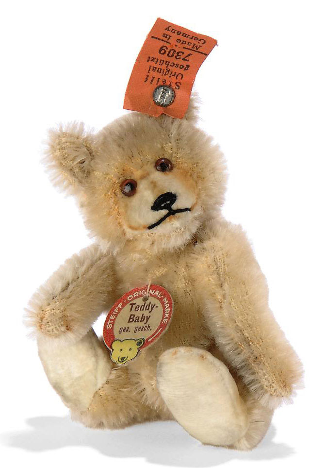 a steiff miniature teddy baby 7309 jointed blonde mohair brown and black glass eyes inset. Black Bedroom Furniture Sets. Home Design Ideas