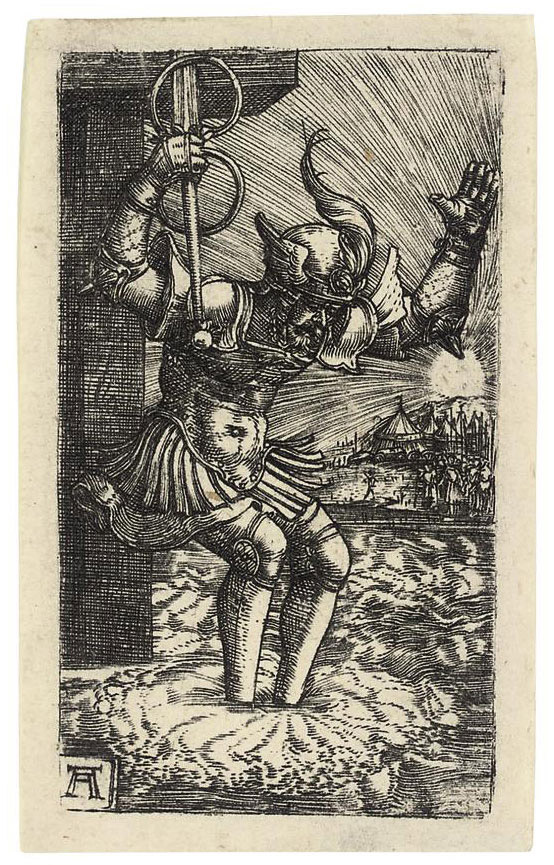 Horatius Cocles leaping into the River (Bartsch 29; Winzinger 156)