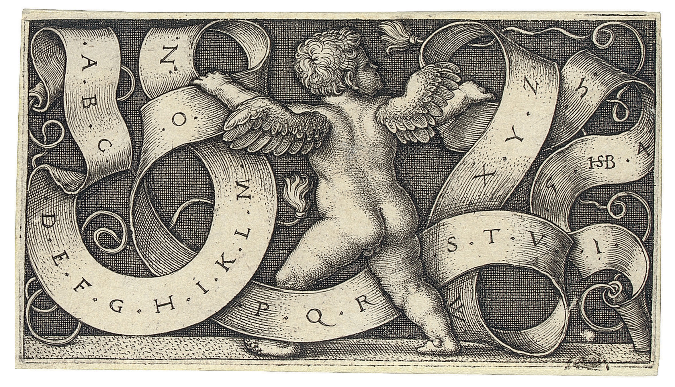 Genius with Alphabet (Bartsch 229; Pauli, Hollstein 233)