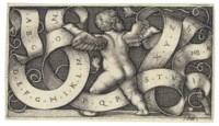 Genius with Alphabet (Bartsch 229; Pauli, Hollstein 233)