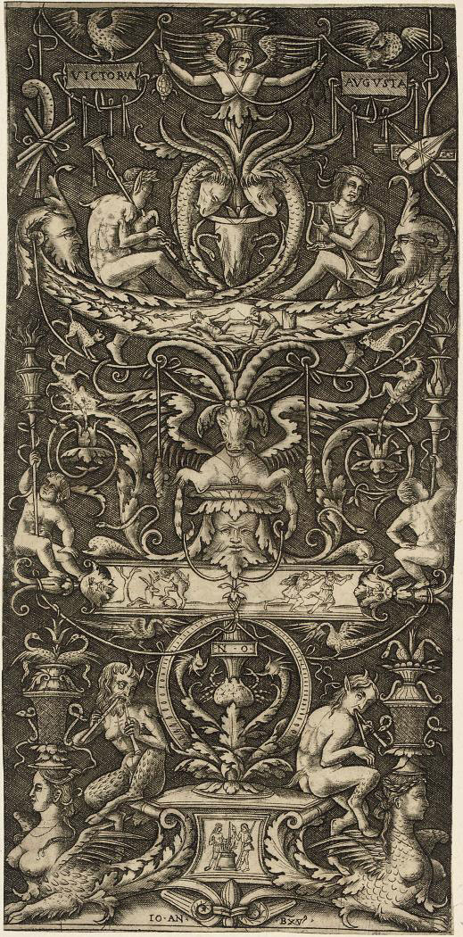 An ornamental Panel with Figures (Bartsch 22)