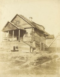Timber dwelling between Kiev and Moscow, 1852