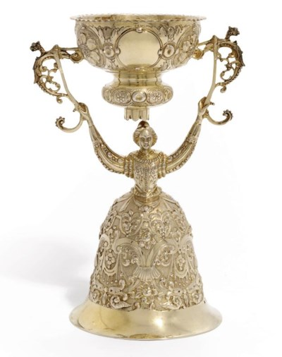 A VICTORIAN SILVER-GILT WAGER-