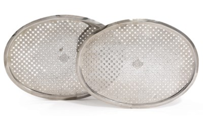 A PAIR OF GEORGE II SILVER MAZ