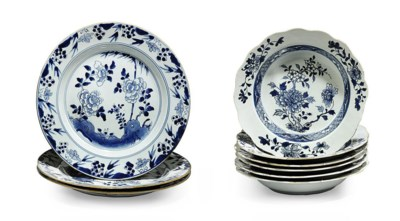 CHINESE BLUE AND WHITE DISHES