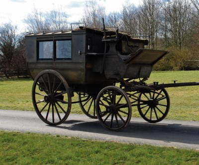 AN EARLY VICTORIAN BLACK AND G