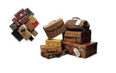 A COLLECTION OF LEATHER LUGGAG