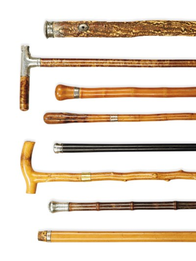 A COLLECTION OF WALKING STICKS