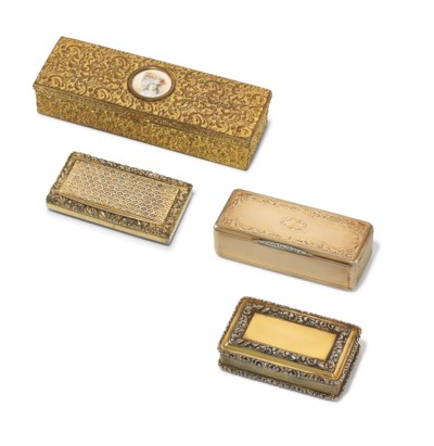 TWO SILVER-GILT AND TWO GILT-M