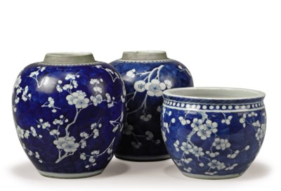 TWO CHINESE BLUE AND WHITE 'PR