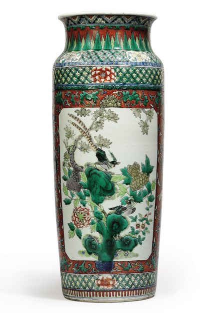A CHINESE FAMILLE VERTE SLEEVE