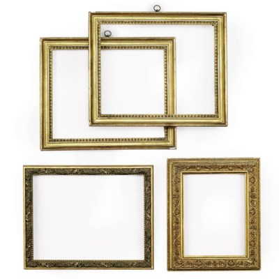 A COLLECTION OF EIGHT GILTWOOD