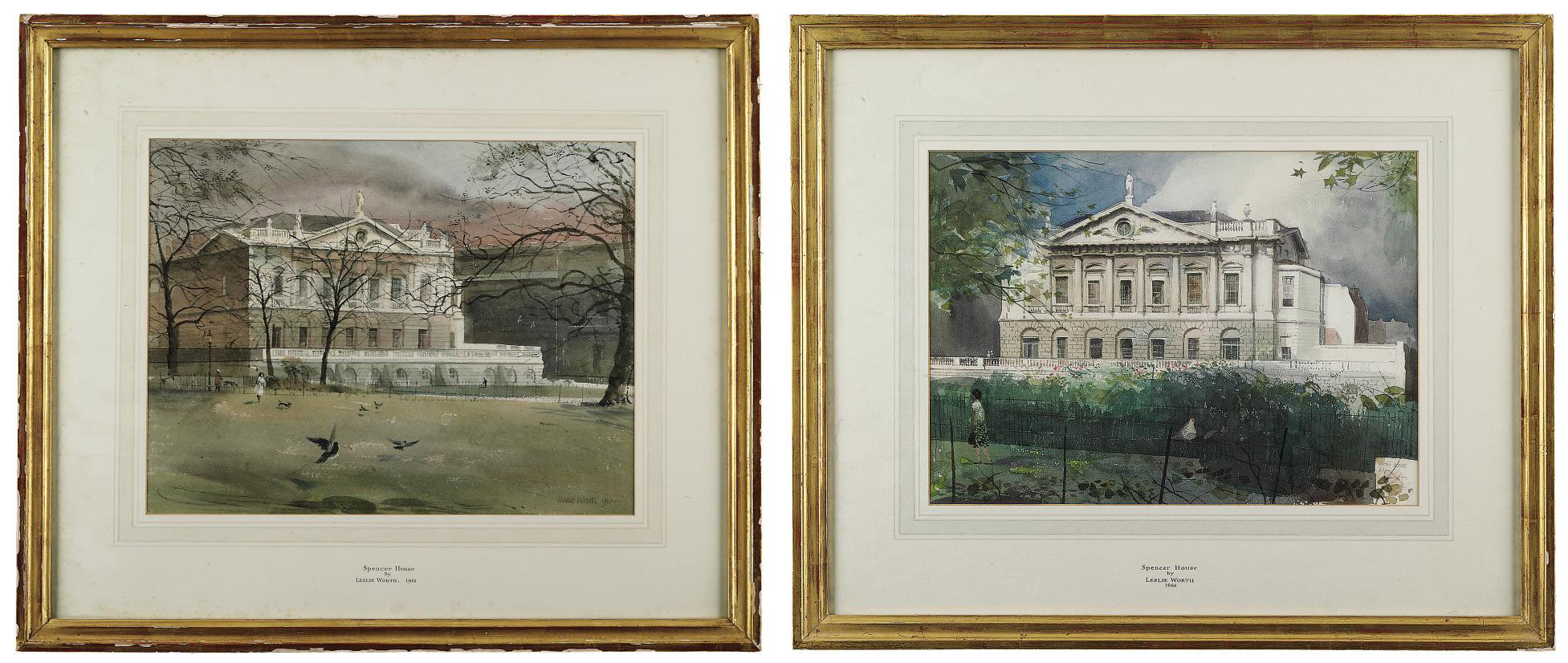 Two views of Spencer House