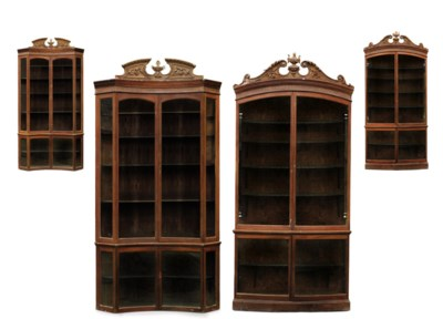 A SET OF FOUR VICTORIAN BROWN-