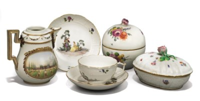 TWO MEISSEN SUGAR-BOXES AND CO