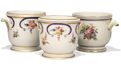 THREE SEVRES-STYLE SEAUX A BOU