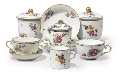 A GROUP OF SEVRES AND SEVRES-S
