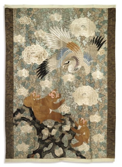 A JAPANESE EMBROIDERED PANEL D