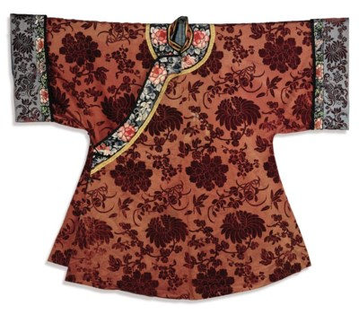 A LADY'S CHINESE VOIDED-VELVET