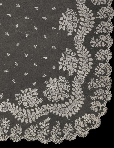 A BRUSSELS NEEDLEPOINT LACE WE