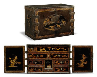 A CHINESE LACQUER TABLE CABINE