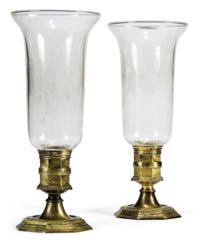 A PAIR OF GILT-BRASS PHOTOPHOR