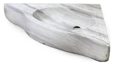 AN OTTOMAN WHITE MARBLE CORNER