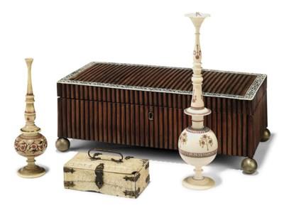 A VIZAGAPATAM SANDALWOOD CASKE