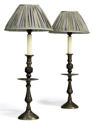 A PAIR OF OTTOMAN PATINATED BR