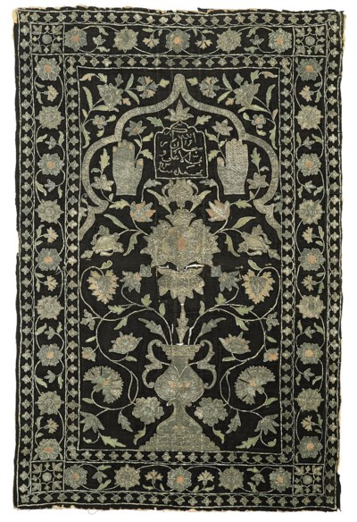 A PERSIAN EMBROIDERED PRAYER H