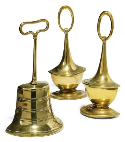 A PAIR OF VICTORIAN CAST-BRASS