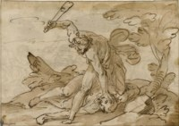 Cain and Abel (recto); The Conversion of Saul (verso)