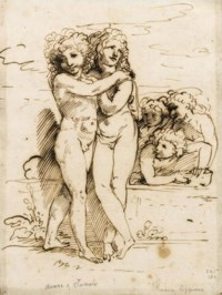 Cupid and Hymen accompanied by amorini