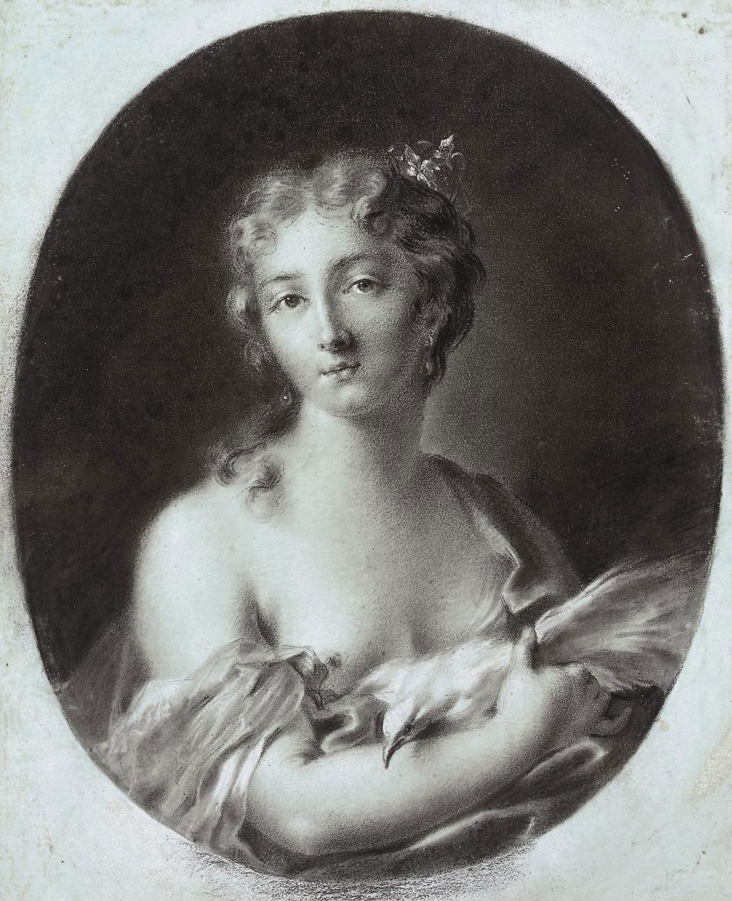 A young woman with a dove