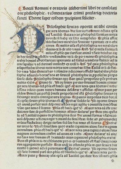 INCUNABULA -- BOETHIUS (c.480-