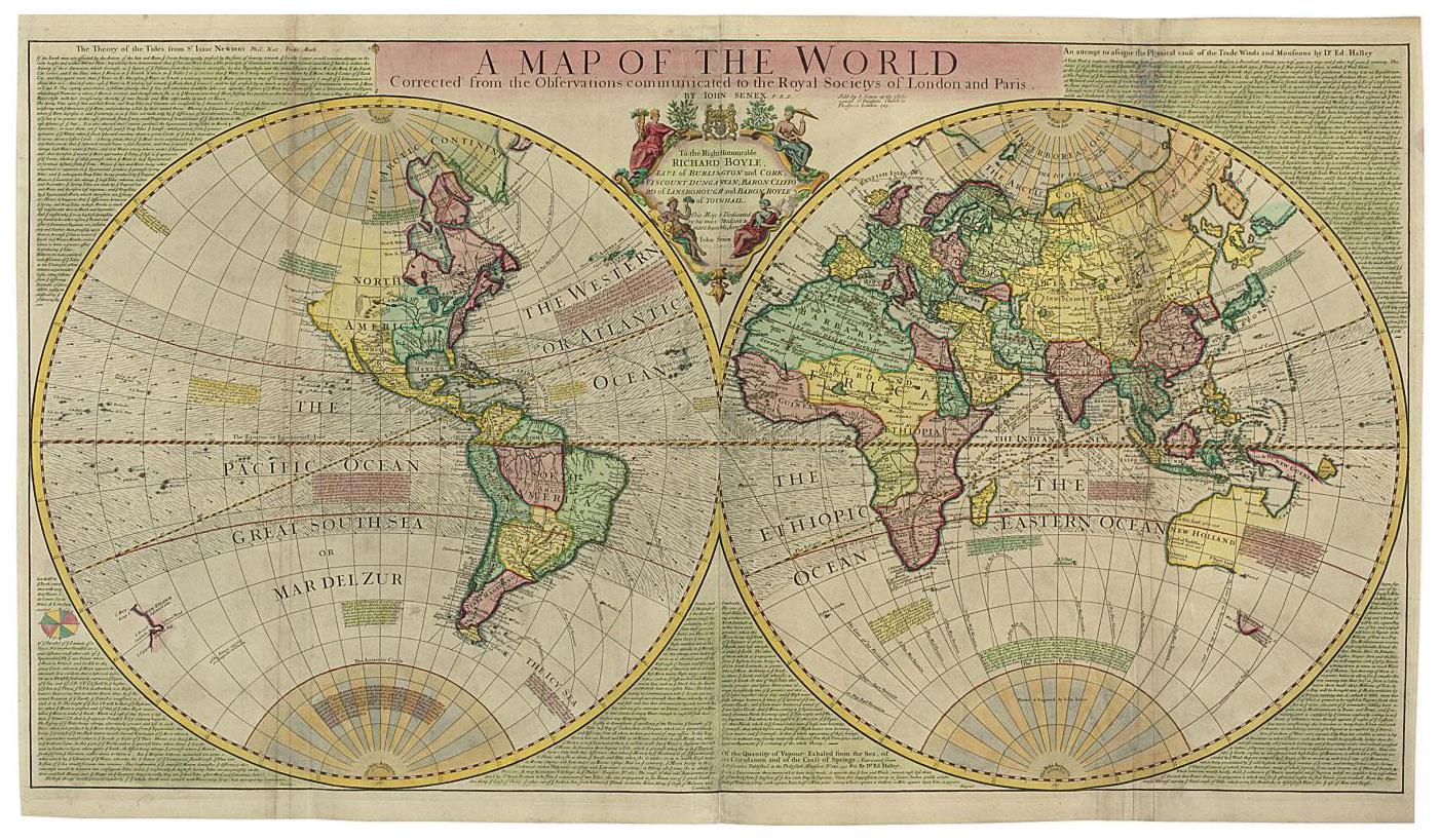 Senex John Bap 1678 1740 I A Map Of The World Corrected From
